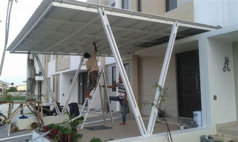 Kanopi Baja Ringan Atap Spandek 17 kumpulan model kanopi baja ringan rumah masa kini