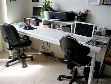 furniture diy computer desks for two types of