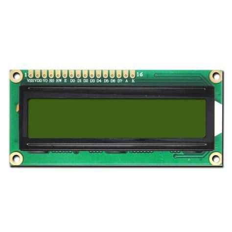 Lcd Display character 2x16 lcd display modules hd44780 controller black on yg