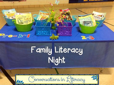 themes for reading night family literacy night
