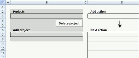 Excel Template Getting Things Done Vba Gtd Project Planning Template
