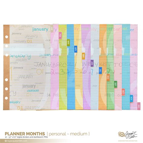 printable planner dividers planner months planner dividers and dashboards