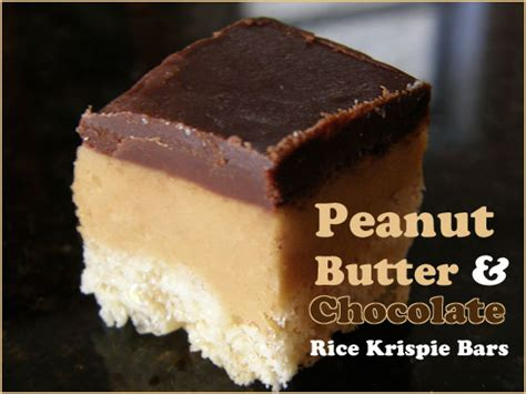 Peanut Butter Rice Krispie Bars With Chocolate Topping by Peanut Butter And Chocolate Rice Krispie Bars Second