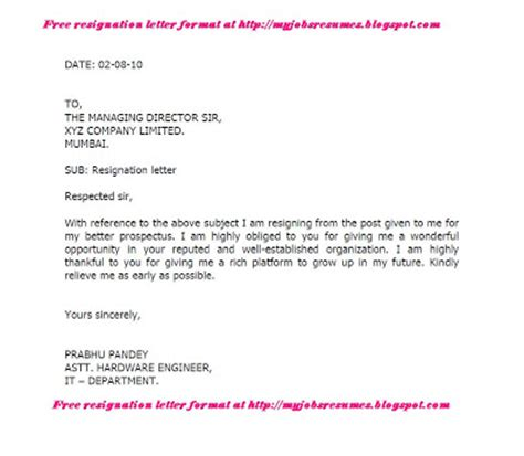 Resignation Letter Accountant by Letter Of Resignation Accountant Pictures
