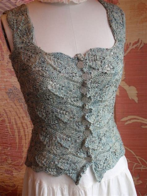 renaissance knitting patterns style sea glass knit lace corset