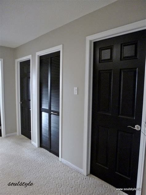 Paint Inside Closet by Black Interior Doors Soulstyle