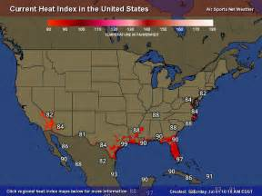 united states current temperature map heat index map united states