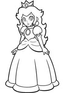 mario princess peach coloring page  printable pages