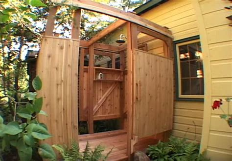plans to build an outdoor bathroom how to build an outdoor shower cottage