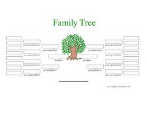 5 Generation Family Tree Outline by 5 Generation Family Tree In Color Template