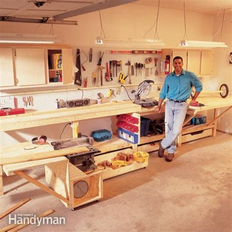 woodworking space workbench plans workbenches the family handyman