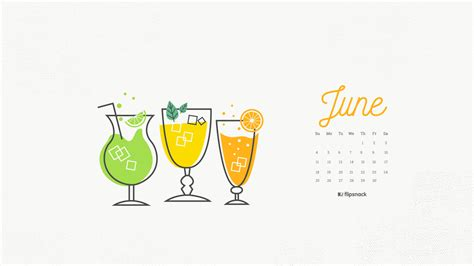 In June june 2017 calendar wallpaper for desktop background