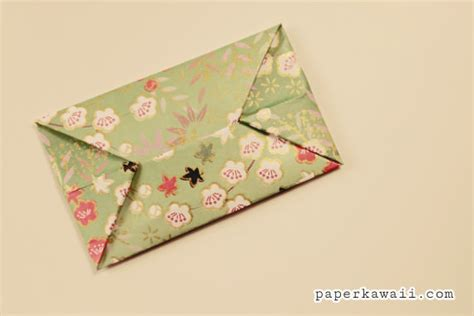 Origami Mini Envelope - easy origami envelope tutorial paper kawaii