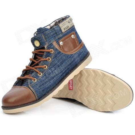 cutdeer a1051 fashion denim fabric canvas casual shoes