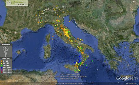in italia italia sismica i terremoti della seconda met 224 di agosto