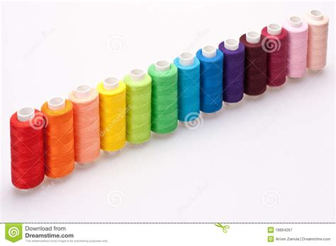 colored for colored thread for sewing royalty free stock photography