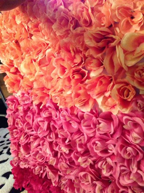 How To Make A Paper Flower Wall - diy ombre flower wall rellebelle s world