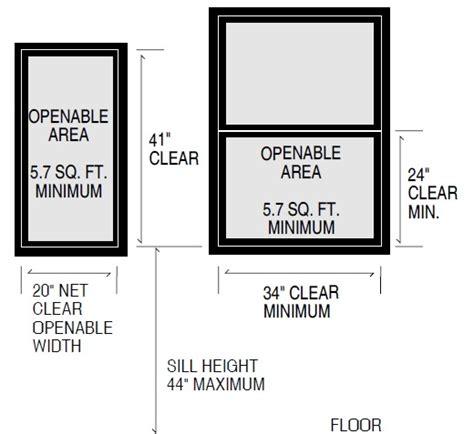 bedroom window size requirements smallest bedroom