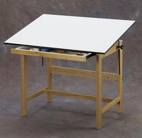 Drafting Table With Drawers Alvin Drafting Table Titan Wood Table 31x42x37 With Drawer
