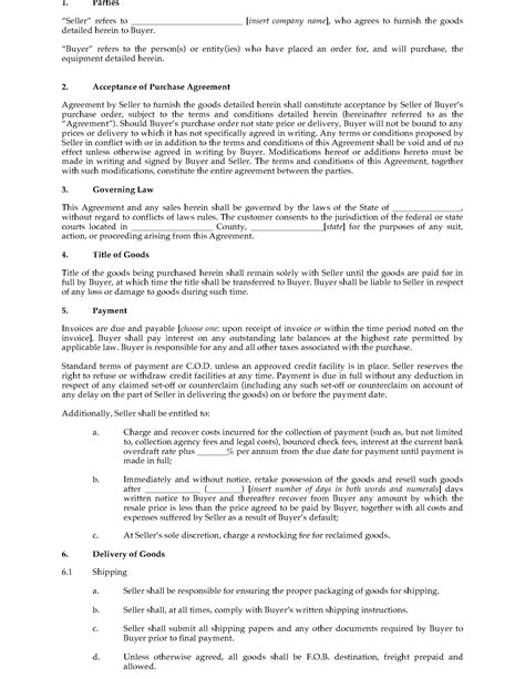 Usa Marine Purchase Agreement Legal Forms And Business Templates Megadox Com Marine Purchase Agreement Template