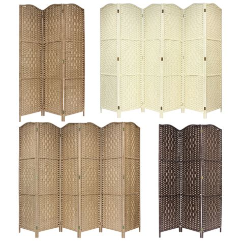 folding screens room dividers solid weave made wicker folding room divider