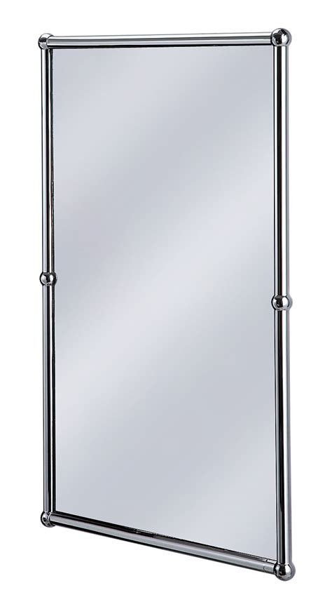 chrome framed bathroom mirror burlington rectangular mirror with chrome frame