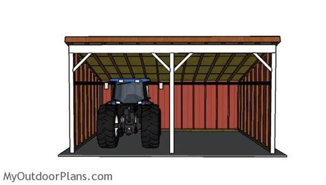 tractor shed plans front view tractor shed ideas shed