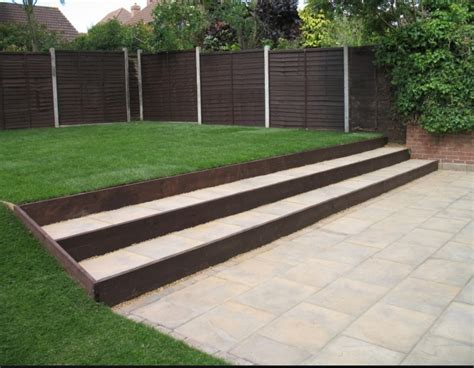 Like the sleeper steps   Backyard ideas   Pinterest