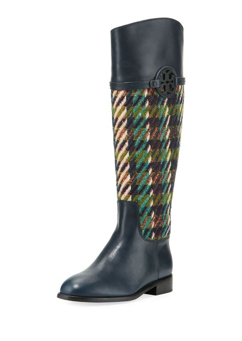 burch boots sale burch burch miller tweed leather knee boot