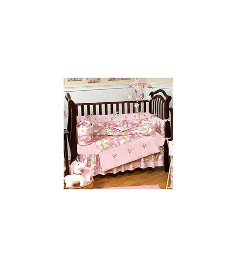 Pink Camo Baby Bedding Crib Set Sweet Jojo Designs Camo Pink 9 Crib Bedding Set
