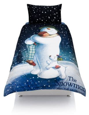 M And S Duvet The Snowman Amp Snowdog Bedding Set With Staynew M Amp S