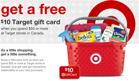 Target 10 Gift Card When You Spend 50 - target canada get a 10 gift card when you spend 50 october 19 20 canadian