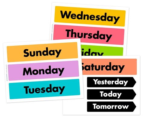 today is what day in week free days of the week and weather wheel printables free
