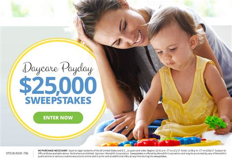 Parents Magazine Sweepstakes - parents magazine 25 000 daycare payday sweepstakes usa contests