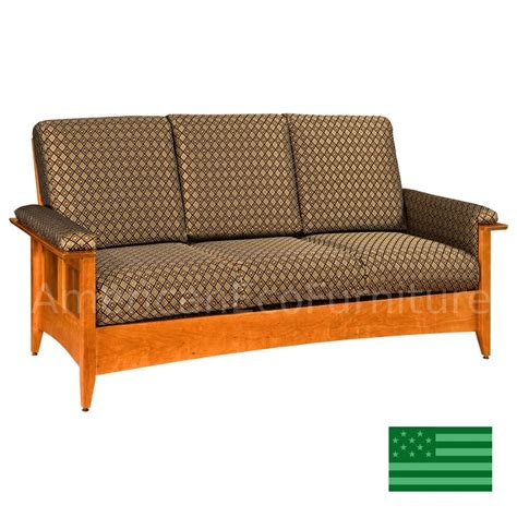 Made In Usa Sofa by Amish Albany Sofa Solid Wood Made In Usa American Eco
