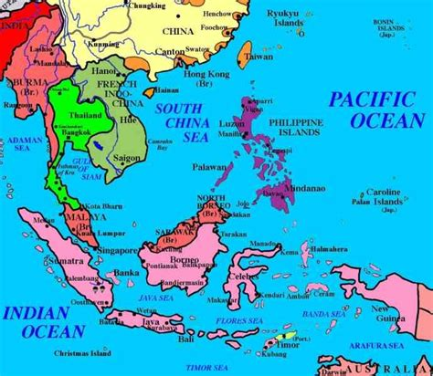 political map of southeast asia political map of south east asia mexico map