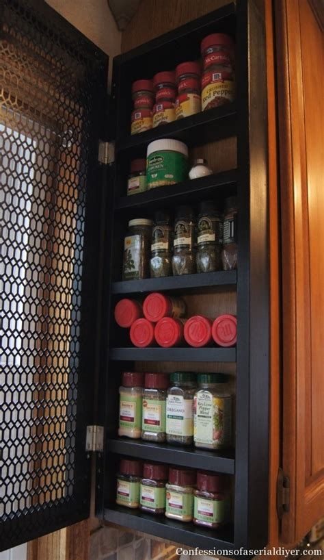 Side Cabinet Spice Rack Remodelaholic How To Build A Space Saving Spice Cabinet