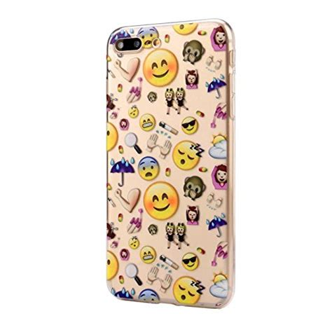 qpika emoji design soft tpu phone back cover for iphone 8 plus type d best
