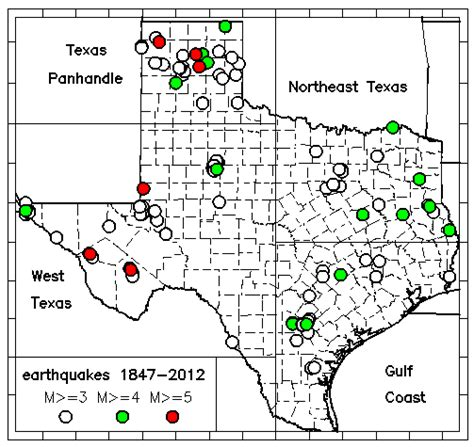 texas earthquake map txeq