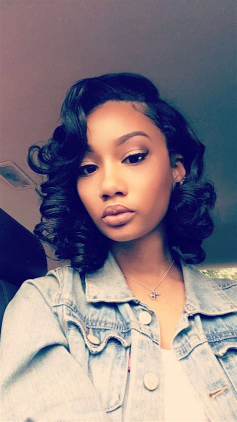 images of middle part ringlets african american 17 best images about bobs medium length fluffy styles on