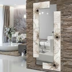 miroir d 233 coratif mural design italien fleurs petunia
