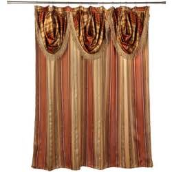 fancy shower curtains with valance ultra modern shower curtain with valance and hooks set or