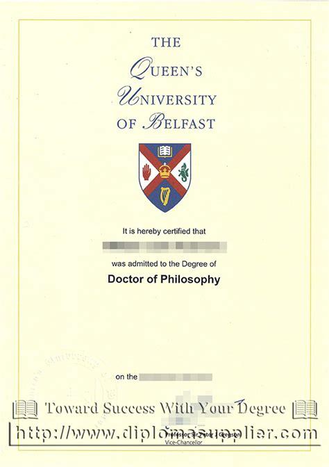 Mba Degree Uk by S Belfast Phd Degree Certificate Buy