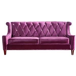 Barrister velvet sofa purple by armen living fab com