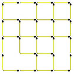 Visualize Square Matchstick Puzzles 55 Square 4x4 How Many Squares