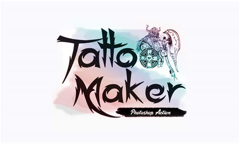 tattoo maker photoshop action photoshop action of the day tattoo maker tool