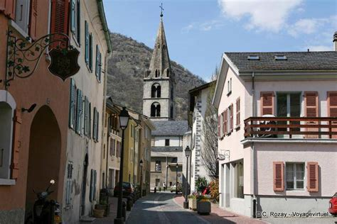 church  martigny view   street switzerland
