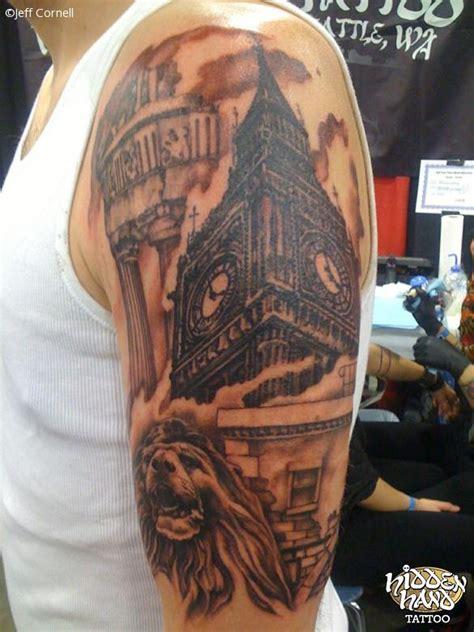 big ben clock tower hidden hand tattoo seattle wa
