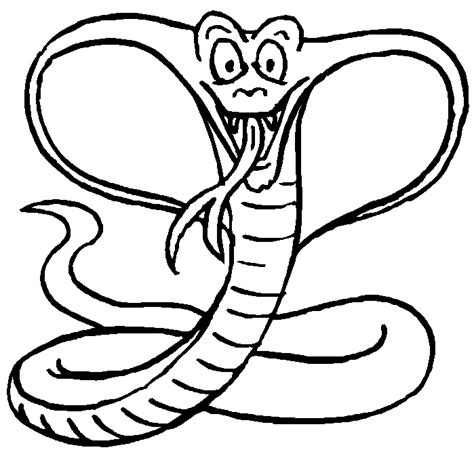 printable coloring page king cobra king cobra coloring page
