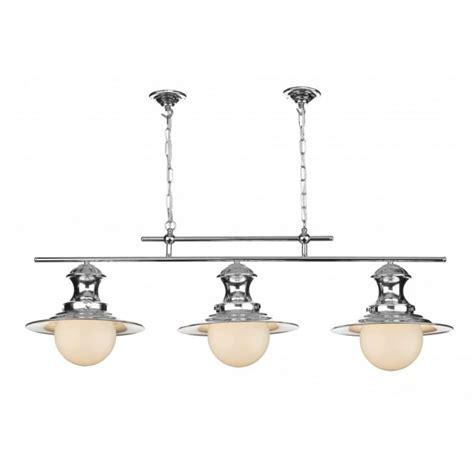 triple pendant ceiling light station l triple light chrome pendant